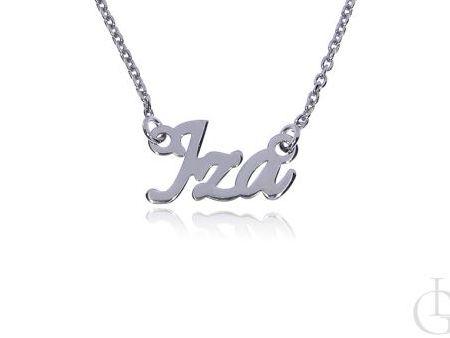 Iza srebrna celebrytka łańcuszek srebro rodowane pr.0,925 naszyjniki imienne na prezenr
