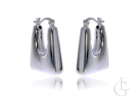 Kolczyki wiszące z klasycznego srebra pr.0,925