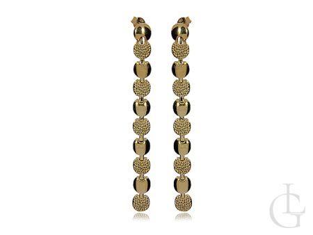 Długie kolczyki ze srebra pozłacanego pr.0,025 na prezent