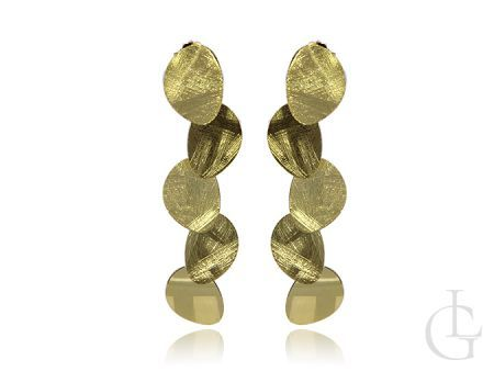 Wiszące kolczyki na sztyft ze srebra pr.0,925 w calości złoconego
