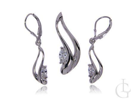 Srebrny komplet biżuterii pr.0,925 z cyrkoniami