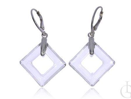 Kolczyki wiszące ze srebra pr.0,925 z kryształkami Swarovskiego