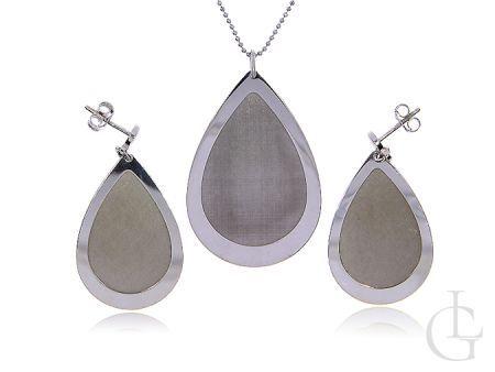 Komplet biżuterii srebrnej pr.0,925 naszyjnik i kolczyki