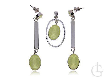Komplet biżuterii ze srebra pr.0,925 z cyrkoniami Swarovskiego