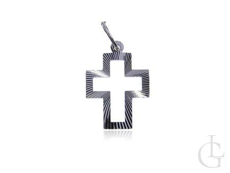 Diamentowany krzyżyk ze srebra pr.0,925 na prezent