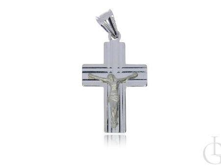 Krzyżyk ze srebra pr.0,925 z wizerunkiem Pana Jezusa