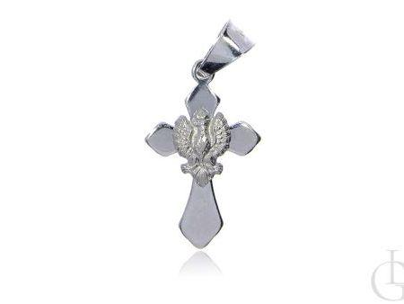Krzyżyk ze srebra pr.0,925 z orłem w koronie