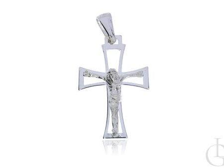 Krzyżyk z wizerunkiem Jezusa ukrzyżowanego srebro pr.0,925