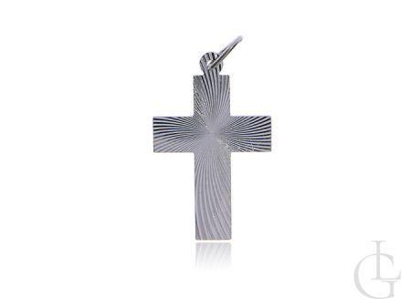 Krzyżyk ze srebra pr.0,925 w całości diamentowany