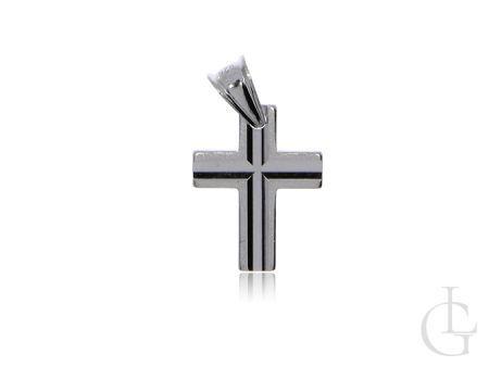 Krzyżyk ze srebra rodowanego pr.0,925