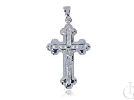 Ciekawy krzyżyk ze srebra pr.0,925 z ukrzyżowanym Jezusem