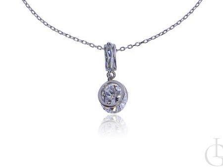 Celebrytka łańcuszek ze srebra rodowanego pr.0,925 z cyrkonią