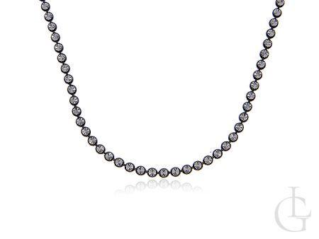 Łańcuszek ze srebra pr.0,925 pokrywany czarnym rodem z diamentowanym wykończeniem