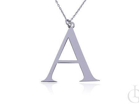 A jak Ania, Aneta, Ada naszyjnik łańcuszek celebrytka z literą A