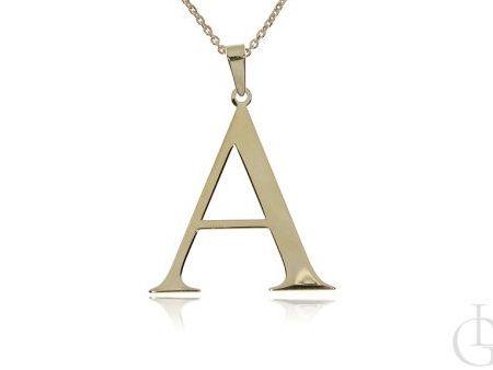 A jak Agnieszka, Aniela, Aneta celebrytka naszyjnik łańcuszek pozłacany z literą A