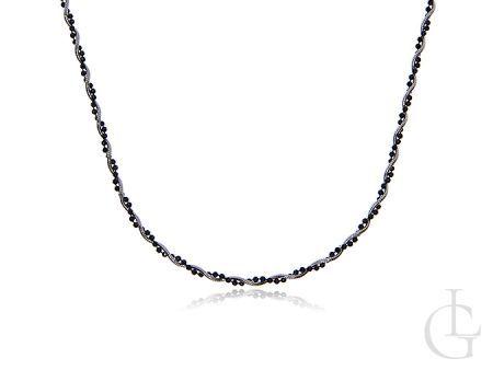 Łańcuszek ze srebra pr.0,925 kręcony z oksydowanymi kuleczkami