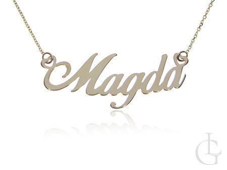 Magda naszyjnik łańcuszek celebrytka złota pr.0,585 z imieniem