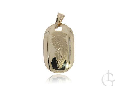 Złoty medalik pr.0,585 z wizerunkiem Matki Bożej na prezent
