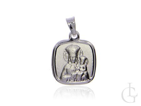 Medalik ze srebra pr.0,925 z Matką Bożą i Dzieciątkiem Jezus