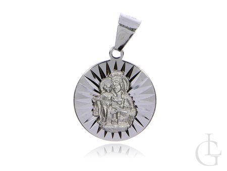 Medalik Szkaplerz ze srebra rodwanego pr.0,925 okrągły