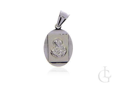 Medalik ze srebra pr.0,925 z Matką Bożą karmiącą