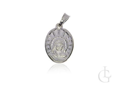 Medalik ze srebra pr.0,925 z Matką Bożą