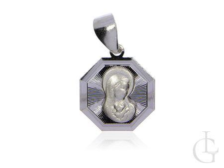 Medalik srebro pr.0,925 z Matką Bożą i Dzieciątkiem
