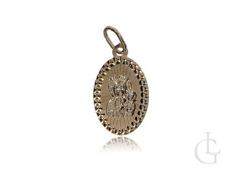 Medalik ze złota pr.0,585 z Matką Boską Częstochowską
