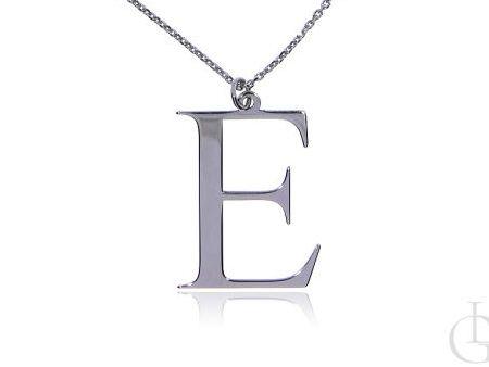 E jak Ewelina Eliza Elżbieta Emilia naszyjnik ze srebra rodowaego pr.0,925 z literą prezent