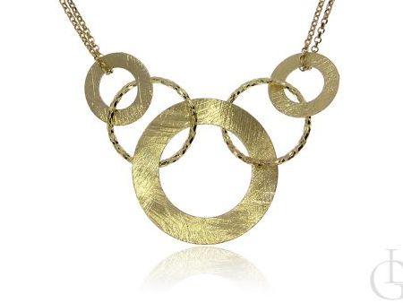 Przepiękny naszyjnik kolia ze srebra pr.0,925 w całości pozłacana 18 ct złotem