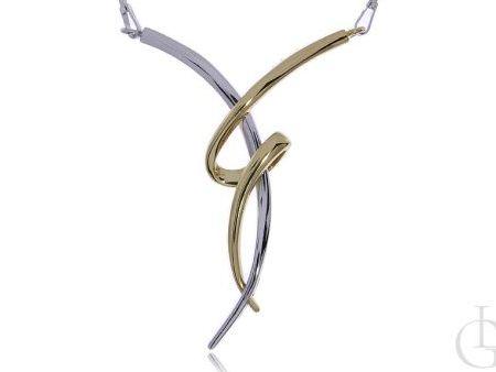 Naszyjnik kolia ze srebra rodowanego i pozłacanego pr.0,925
