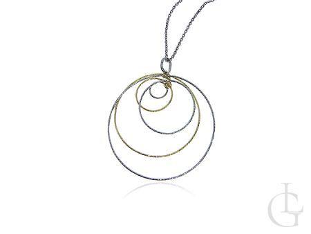 Ekskluzywny srebrny naszyjnik z drogocenną przewieszką