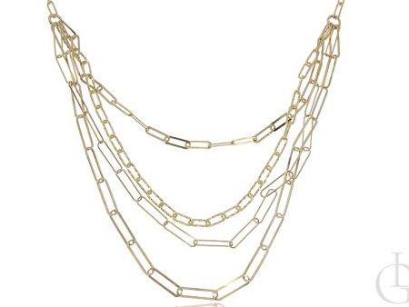 Naszyjnik kolia kaskadowa ze srebra pozłacanego pr.0,925