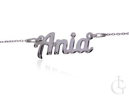 Ania elegancki naszyjnik damski ze srebra rodowanego na prezent