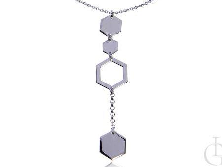 Naszyjnik celebrytka ze srebra pr.0,925 krawat z geometrycznym wzorem