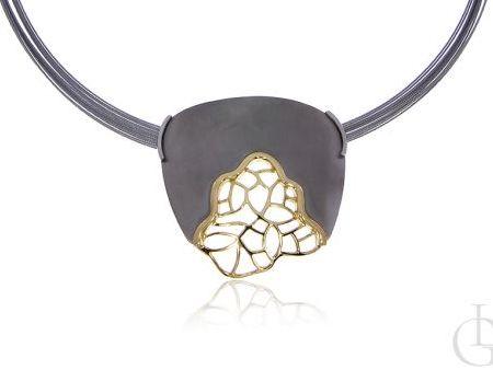 Kolia naszyjnik ze srebra pr.0,925 ze złoceniem