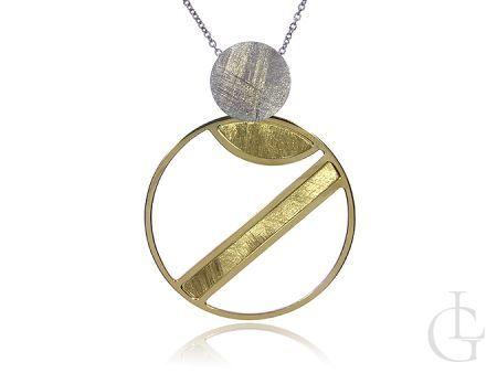 Cudowny naszyjnik łańcuszkowy ze srebra rodowanego i pozłacanego pr.0,925
