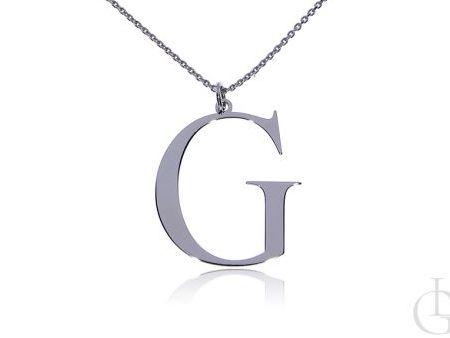 G jak Gloria Grażyna Gaja naszyjnik celebrytka łańcuszek z literą na prezent srebro rodowane pr.0,925