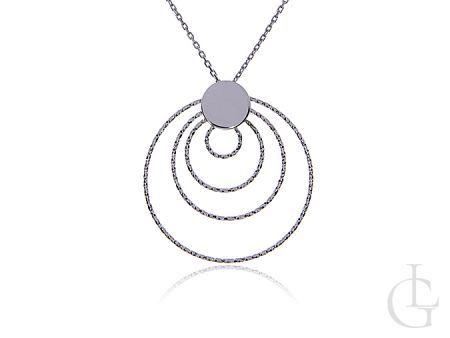 Naszyjnik celebrytka ze srebra rodowanego pr.0,925 w całośći diamentowany