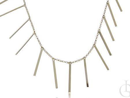Długi naszyjnik ze srebra pr.0,925 pozłacanego 18 ct złotem