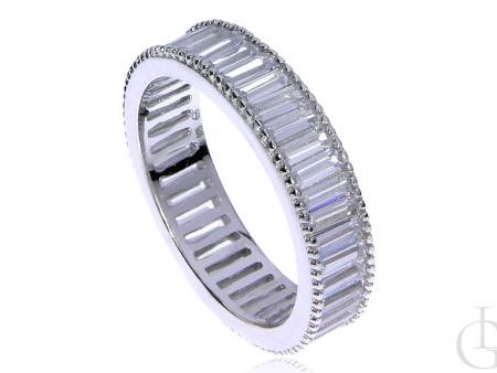 Obrączka pierścionek ze srebra rodowanego pr.0,925 wysadzana cyrkoniami