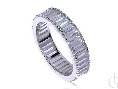 Obrączka pierścionek ze srebra rodowanego pr.0,925 z cyrkoniami
