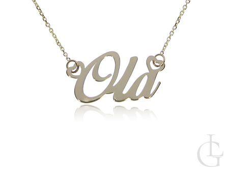 Ola złoty łańcuszek naszyjnik celebrytka pr.0,585 z imieniem