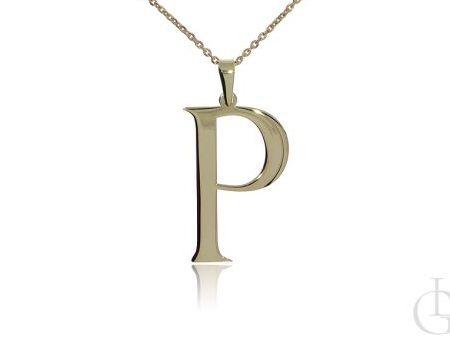 P jak Paulina, Pola, Patrycja, Paula, Pamela naszyjnik celebrytka łańcuszek z literą srebro pozłacane