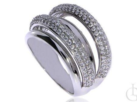 Oryginalny pierścionek ze srebra rodowanego pr.0,925 z cyrkoniami