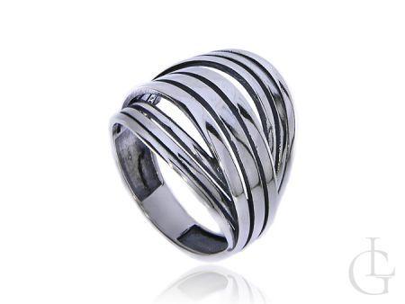 Szeroki pierścionek obrączka ze srebra pr.0,925