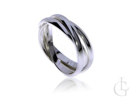 Potrójny pierścionek obrączka ze srebra pr.0,925