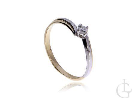 Pierścionek zaręczynowy ze złota pr.0,585 z diamentem