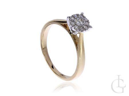 Pierścionek zaręczynowy ze złota pr.0,585 z brylantam