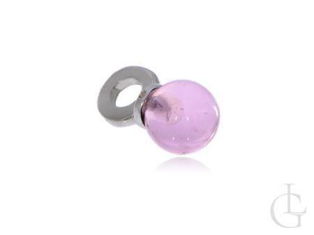 Wiszący charms ze srebra pr.0,925  szklana czarodziejska kula
